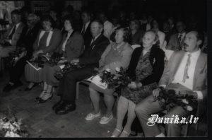 Dunikas pagasta 75. gadu jubilejā – bijušie darbinieki- Jānis Mačuļskis, Margrieta Saulīte, Anna Slamste, Pēteris Sungāls, Alma Role, Jānis Laipnieks, Miervaldis Ziemelis, Ausma Padalka