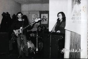 Jānis Grodums un Tomass Kleins Ritas Ozolas kāzās Sikšņu ēdnīcā