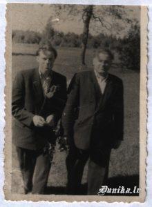 """Fricis Brušņevics kolhoza """"Uzvara"""" priekšsēdētājs 1955-1958 un Augusts Pommers 1958-1961"""