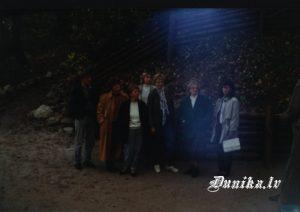 Skolotāji ekskursijā. Sandra un Vaclavs Malakauski, Irma Ziemele, Astra Rancāne, Tamāra Linde, Valentīna Keirāne