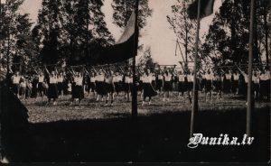 Pasākums Sieciņu skolā, Dunikas pagastā ap 1938 g