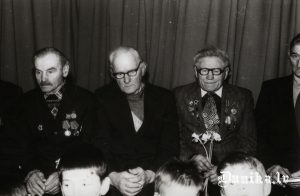 Lielā Tēvijas kara veterāni, no kreisās-1........, 2. Klāvs Liparts, 3. Liepa Klāvs.