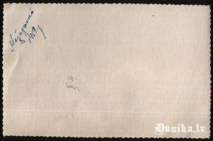 Rīgā Mežaparkā 1959. Uzraksts uz foto 0571.