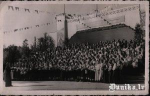 Dziesmusvētki Skundā 1954.g 12.jūlijā.