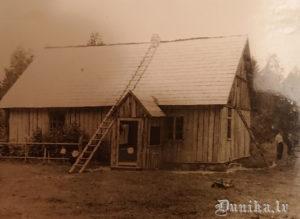 """Dunikas pagasta """"Svaidiņi"""". Laimas Zābakas vīra tēva mājas."""