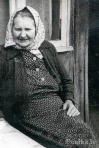Teicēja Katrīna Kurzeme 1961, gadā. Tolaik 74 gadus veca, dzimusi Nīcā.