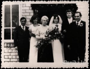 Intas Brumanes un Maigoņa Iņņa laulības svinīgā reģistrācija Sikšņu ciema Izpildu komitejā.