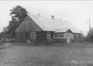 Zirnīši. Visvalda Brizgas dzimtās mājas.