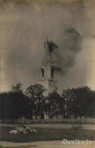 Rucavas baznīcas ugunsgrēks.