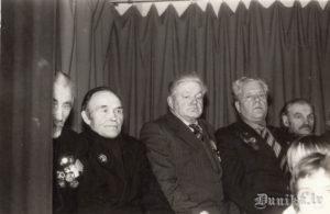 2.pasaules kara (tolaik Lielā Tēvijas Kara) dalībnieki Miķelis Blūms, Jānis Linde, Jūlijs Kundziņš, Zigfrīds Innis, Rūdolfs Brizga.